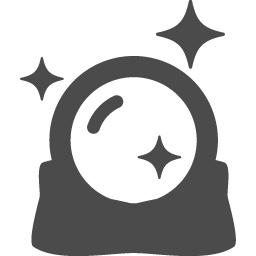 水晶玉アイコン2 アイコン素材ダウンロードサイト Icooon Mono 商用利用可能なアイコン素材が無料 フリー ダウンロードできるサイト