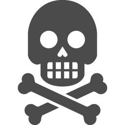 骸骨アイコン16 アイコン素材ダウンロードサイト Icooon Mono 商用利用可能なアイコン素材が無料 フリー ダウンロードできるサイト