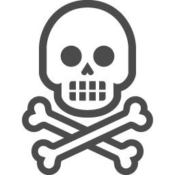 骸骨のフリー素材17 アイコン素材ダウンロードサイト Icooon Mono 商用利用可能なアイコン素材 が無料 フリー ダウンロードできるサイト
