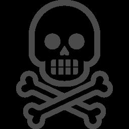 骸骨のフリー素材17 アイコン素材ダウンロードサイト Icooon Mono 商用利用可能なアイコン素材が無料 フリー ダウンロードできるサイト