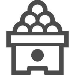 月見だんごアイコン3 アイコン素材ダウンロードサイト Icooon Mono 商用利用可能なアイコン素材が無料 フリー ダウンロードできるサイト