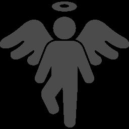 天使アイコン1 アイコン素材ダウンロードサイト Icooon Mono 商用利用可能なアイコン素材が無料 フリー ダウンロードできるサイト