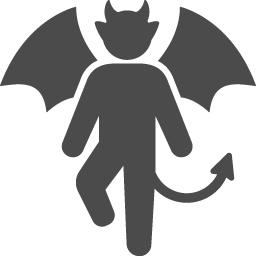 悪魔アイコン5 アイコン素材ダウンロードサイト Icooon Mono 商用利用可能なアイコン素材が無料 フリー ダウンロードできるサイト
