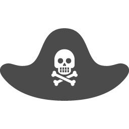 海賊帽子アイコン アイコン素材ダウンロードサイト Icooon Mono 商用利用可能なアイコン素材が無料 フリー ダウンロードできるサイト