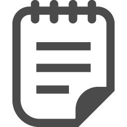 メモ帳アイコン7 アイコン素材ダウンロードサイト Icooon Mono 商用利用可能なアイコン素材が無料 フリー ダウンロードできるサイト