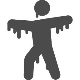 ゾンビのピクトグラム2 アイコン素材ダウンロードサイト Icooon Mono 商用利用可能なアイコン素材が無料 フリー ダウンロードできるサイト