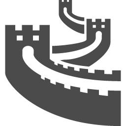 万里の長城アイコン1 アイコン素材ダウンロードサイト Icooon Mono 商用利用可能なアイコン 素材が無料 フリー ダウンロードできるサイト