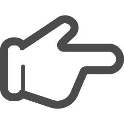 指やじるしの無料素材 アイコン素材ダウンロードサイト Icooon Mono 商用利用可能なアイコン素材が無料 フリー ダウンロードできるサイト
