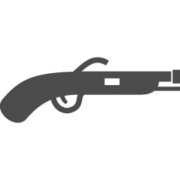 火縄銃アイコン アイコン素材ダウンロードサイト Icooon Mono 商用利用可能なアイコン素材が無料 フリー ダウンロードできるサイト