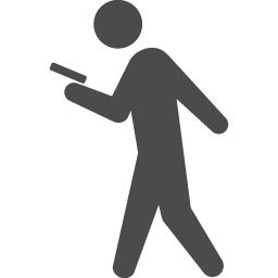 歩きスマホのピクトグラム1 アイコン素材ダウンロードサイト Icooon Mono 商用利用可能なアイコン 素材が無料 フリー ダウンロードできるサイト