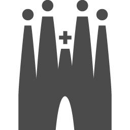 サグラダ ファミリアのフリーアイコン3 アイコン素材ダウンロードサイト Icooon Mono 商用利用可能なアイコン素材が無料 フリー ダウンロードできるサイト