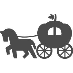 カボチャの馬車アイコン1 アイコン素材ダウンロードサイト Icooon Mono 商用利用可能なアイコン素材が無料 フリー ダウンロードできるサイト