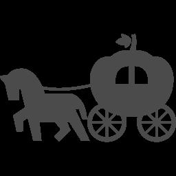 カボチャの馬車アイコン1 アイコン素材ダウンロードサイト Icooon Mono 商用利用可能なアイコン素材 が無料 フリー ダウンロードできるサイト