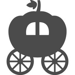 カボチャの馬車アイコン2 アイコン素材ダウンロードサイト Icooon Mono 商用利用可能なアイコン素材が無料 フリー ダウンロードできるサイト