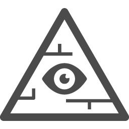ピラミッドアイ1 アイコン素材ダウンロードサイト Icooon Mono 商用利用可能なアイコン素材が無料 フリー ダウンロードできるサイト