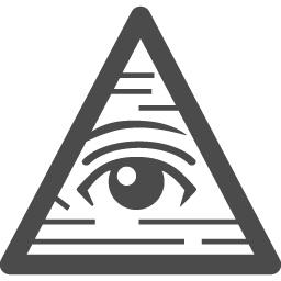 ピラミッドアイのフリーイラスト4 アイコン素材ダウンロードサイト Icooon Mono 商用利用可能なアイコン素材が無料 フリー ダウンロードできるサイト