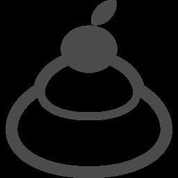 鏡餅のフリーイラスト4 アイコン素材ダウンロードサイト Icooon Mono 商用利用可能なアイコン素材が無料 フリー ダウンロードできるサイト