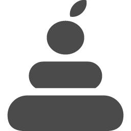 鏡餅アイコン6 アイコン素材ダウンロードサイト Icooon Mono 商用利用可能なアイコン素材が無料 フリー ダウンロードできるサイト