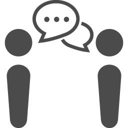 会話アイコン アイコン素材ダウンロードサイト Icooon Mono 商用利用可能なアイコン素材が無料 フリー ダウンロードできるサイト