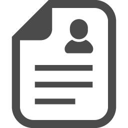 履歴書アイコン1 アイコン素材ダウンロードサイト Icooon Mono 商用利用可能なアイコン素材が無料 フリー ダウンロードできるサイト