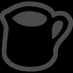 ミルクピッチャー アイコン素材ダウンロードサイト Icooon Mono 商用利用可能なアイコン素材が無料 フリー ダウンロードできるサイト