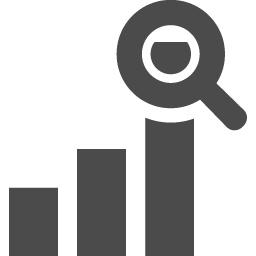 分析アイコン アイコン素材ダウンロードサイト Icooon Mono 商用利用可能なアイコン素材が無料 フリー ダウンロードできるサイト