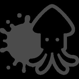 イカの無料イラスト5 アイコン素材ダウンロードサイト Icooon Mono 商用利用可能なアイコン素材が無料 フリー ダウンロードできるサイト