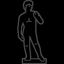Statue Of David Icon 2 アイコン素材ダウンロードサイト Icooon Mono 商用利用可能なアイコン素材が無料 フリー ダウンロードできるサイト