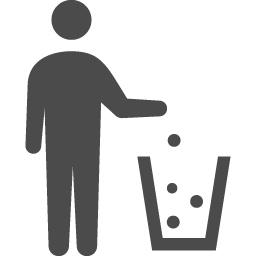 ゴミ箱アイコン アイコン素材ダウンロードサイト Icooon Mono 商用利用可能なアイコン素材が無料 フリー ダウンロードできるサイト