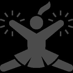 チアリーダーのピクトグラム アイコン素材ダウンロードサイト Icooon Mono 商用利用可能なアイコン 素材が無料 フリー ダウンロードできるサイト