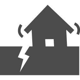 地震のフリー素材2 アイコン素材ダウンロードサイト Icooon Mono 商用利用可能なアイコン素材が無料 フリー ダウンロードできるサイト