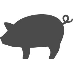 豚のシルエット アイコン素材ダウンロードサイト Icooon Mono 商用利用可能なアイコン素材が無料 フリー ダウンロードできるサイト