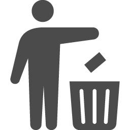 ゴミ箱のフリーアイコン アイコン素材ダウンロードサイト Icooon Mono 商用利用可能なアイコン 素材が無料 フリー ダウンロードできるサイト
