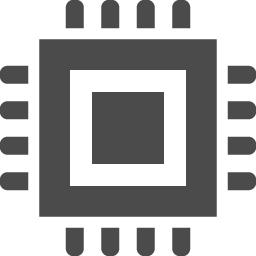 Cpuのフリーアイコン4 アイコン素材ダウンロードサイト Icooon Mono 商用利用可能なアイコン素材が無料 フリー ダウンロードできるサイト