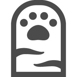 猫の手の無料イラスト4 アイコン素材ダウンロードサイト Icooon Mono 商用利用可能なアイコン素材が無料 フリー ダウンロードできるサイト