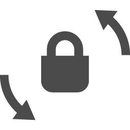 回転ロックアイコン2 アイコン素材ダウンロードサイト Icooon Mono 商用利用可能なアイコン素材が無料 フリー ダウンロードできるサイト