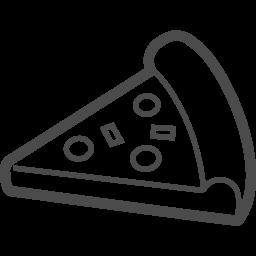 ピザの無料イラスト6 アイコン素材ダウンロードサイト Icooon Mono 商用利用可能なアイコン素材が無料 フリー ダウンロードできるサイト