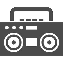 ラジカセアイコン1 アイコン素材ダウンロードサイト Icooon Mono 商用利用可能なアイコン素材が無料 フリー ダウンロードできるサイト