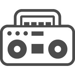 ラジカセの無料イラスト2 アイコン素材ダウンロードサイト Icooon Mono 商用利用可能なアイコン素材が無料 フリー ダウンロードできるサイト