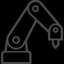 ロボットアームのフリーアイコン2 アイコン素材ダウンロードサイト Icooon Mono 商用利用可能なアイコン 素材が無料 フリー ダウンロードできるサイト