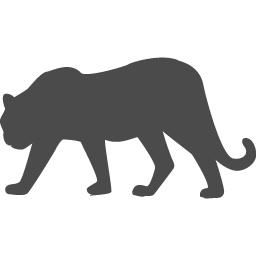 黒ヒョウの無料アイコン アイコン素材ダウンロードサイト Icooon Mono 商用利用可能なアイコン素材が無料 フリー ダウンロードできるサイト
