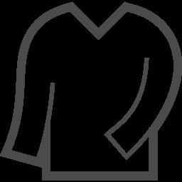 Vネックシャツアイコン アイコン素材ダウンロードサイト Icooon Mono 商用利用可能なアイコン 素材が無料 フリー ダウンロードできるサイト