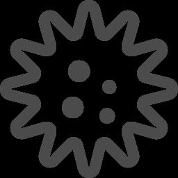 ウィルスのフリー素材 アイコン素材ダウンロードサイト Icooon Mono 商用利用可能なアイコン素材が無料 フリー ダウンロードできるサイト