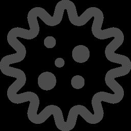 ウィルスの無料イラスト アイコン素材ダウンロードサイト Icooon Mono 商用利用可能なアイコン素材が無料 フリー ダウンロードできるサイト