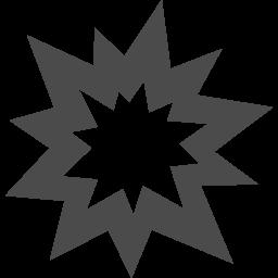 爆発アイコン アイコン素材ダウンロードサイト Icooon Mono 商用利用可能なアイコン素材が無料 フリー ダウンロードできるサイト