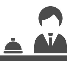 ホテルの受付アイコン アイコン素材ダウンロードサイト Icooon Mono 商用利用可能なアイコン 素材が無料 フリー ダウンロードできるサイト