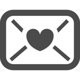 ラブレターアイコン1 アイコン素材ダウンロードサイト Icooon Mono 商用利用可能なアイコン 素材が無料 フリー ダウンロードできるサイト