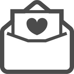 ラブレターの無料イラスト2 アイコン素材ダウンロードサイト Icooon Mono 商用利用可能なアイコン素材 が無料 フリー ダウンロードできるサイト